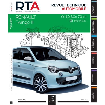 renault twingo iii depuis 06 2014 1 0 sce 70cv rta0816 juillet 2017. Black Bedroom Furniture Sets. Home Design Ideas