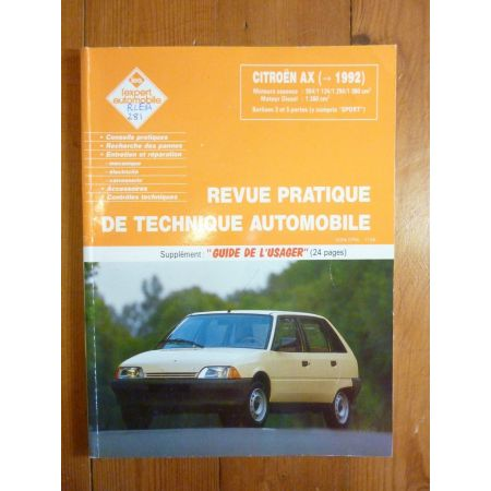 AX 92-- Revue Technique CITROEN