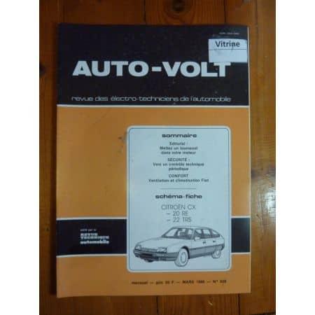 CX Revue Technique Electronic Auto Volt Citroen