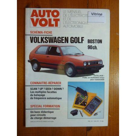 Golf Boston Revue Technique Electronic Auto Volt Volkswagen