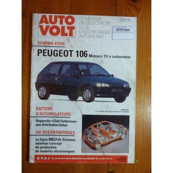 106 Revue Technique Electronic Auto Volt  Peugeot