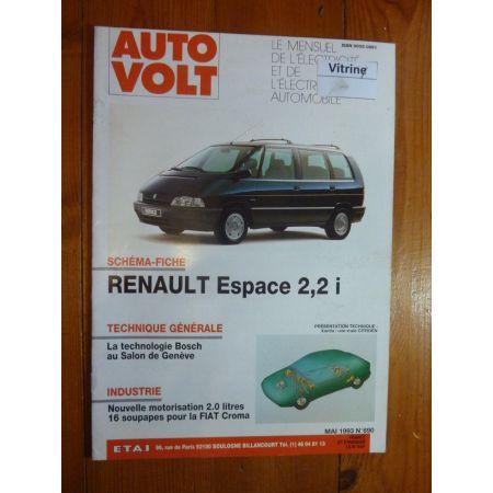 Espace 2.2i Revue Technique Electronic Auto Volt Renault