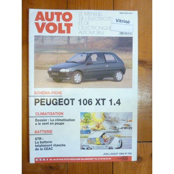 106 XT 1.4 Revue Technique Electronic Auto Volt Peugeot