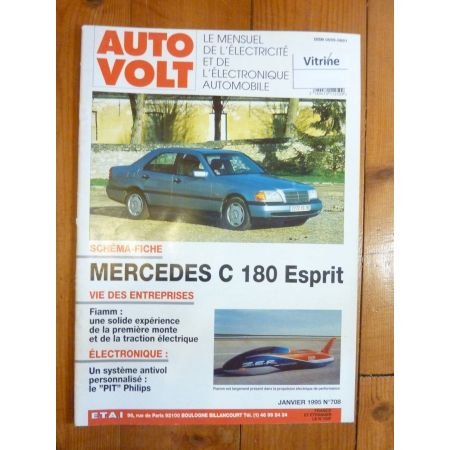 C180 esprit Revue Technique Electronic Auto Volt Mercedes