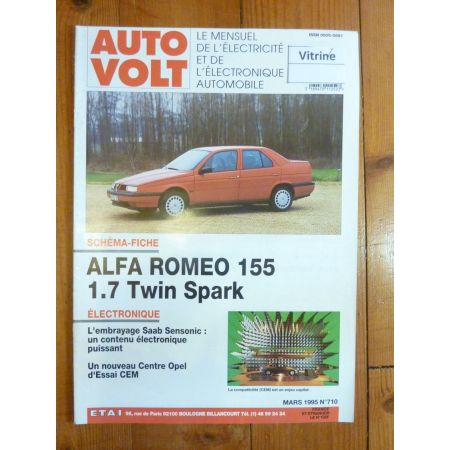 155 Twin-Spark Revue Technique Electronic Auto Volt Alfa Romeo