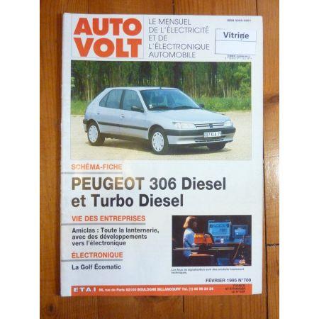 306 D,TD Revue Technique Electronic Auto Volt Peugeot