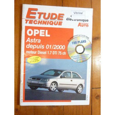 Astra 1.7DTi 00- Revue Technique Electronic Auto Volt Opel