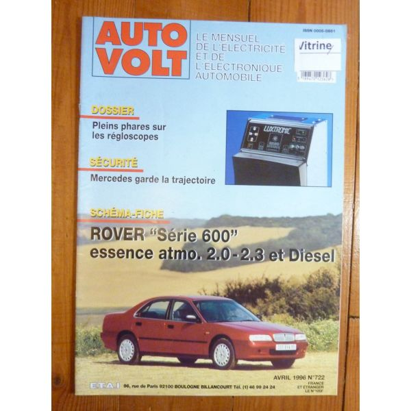 ROVER 200 Essence atmo. 2.0, 2.3 et Diesel EAV0722 revue technique