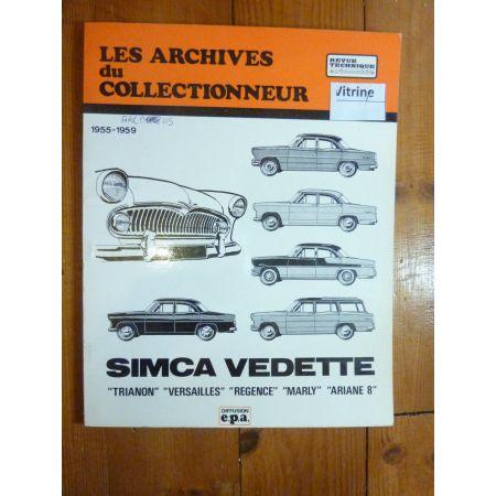 Vedette 55-59 Revue Technique Les Archives Du Collectionneur Simca
