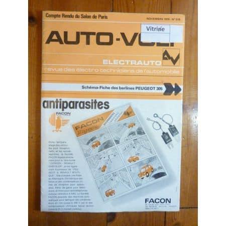 305 Revue Technique Electronic Auto Volt Peugeot