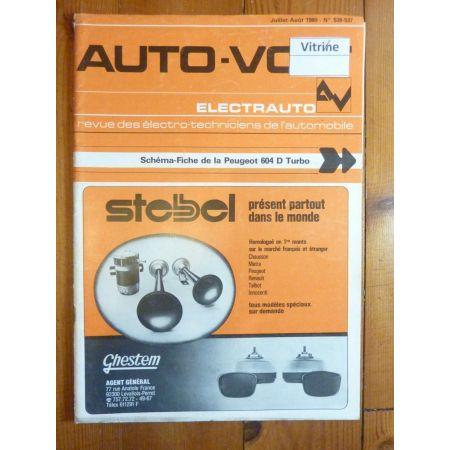 604 D Turbo Revue Technique Electronic Auto Volt Peugeot