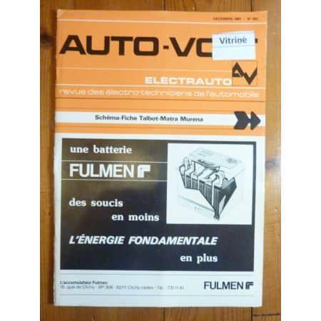 Murena Revue Technique Electronic Auto Volt Talbot Simca