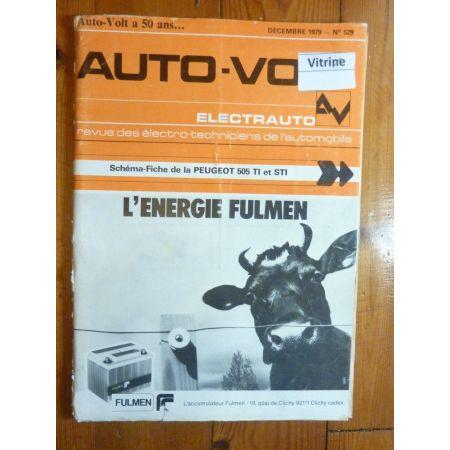 505 TI STI Revue Technique Electronic Auto Volt Peugeot
