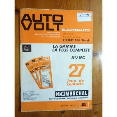 504 D Revue Technique Electronic Auto Volt Peugeot