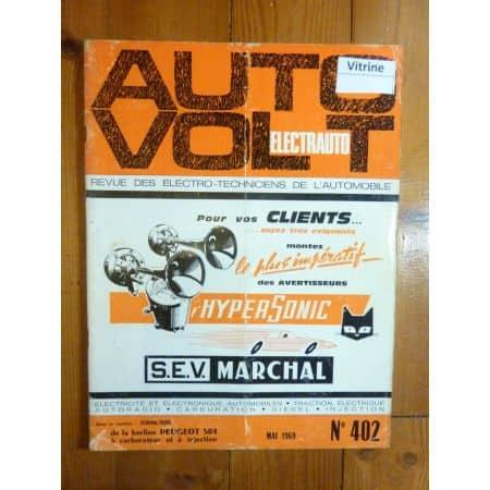504 Revue Technique Electronic Auto Volt Peugeot