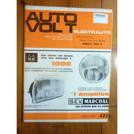 1501S Revue Technique Electronic Auto Volt Talbot Simca