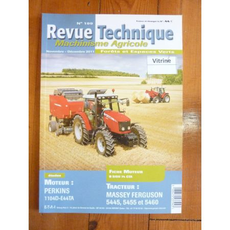 5445 5455 5460 Revue Technique Agricole Massey Ferguson