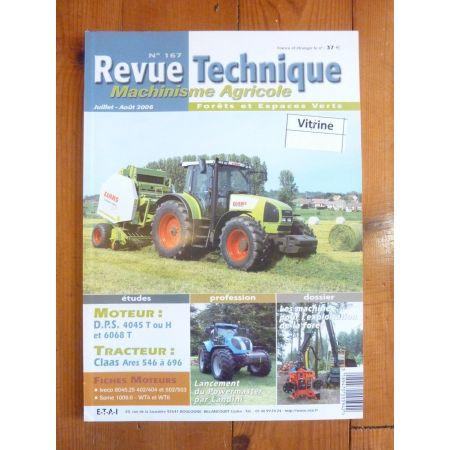 ARES 546 à 696 Revue Technique Agricole Claas