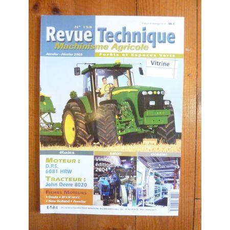 8100 a 8520 Revue Technique Agricole John Deere