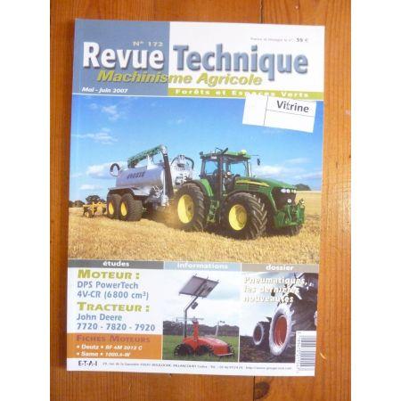 7720 7820 7920 Revue Technique Agricole John Deere
