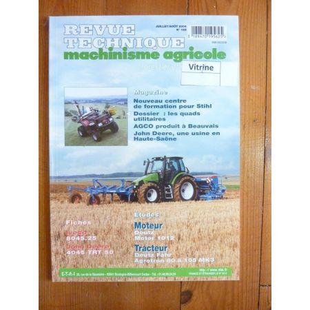 Agrotron MK3 Revue Technique Agricole Deutz Fahr