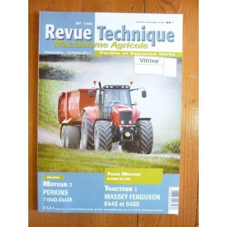 6445 6455 Revue Technique Agricole Massey Ferguson
