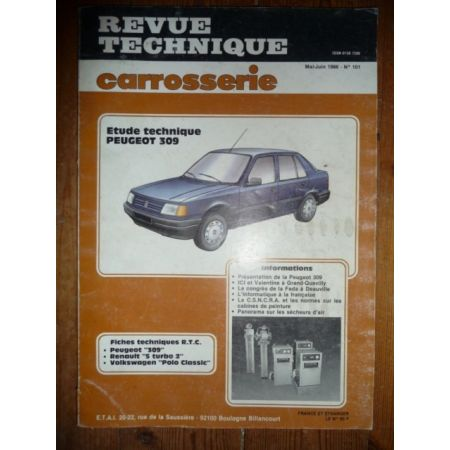 309 Revue Technique Carrosserie Peugeot