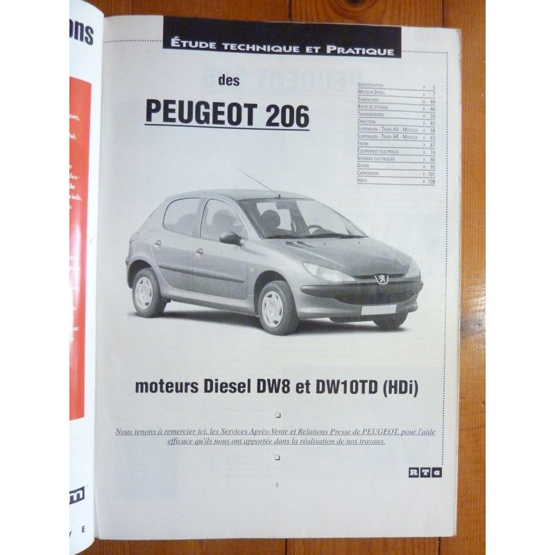 peugeot 206 diesel moteurs dw8 atmo hdi et dw10 turbo hdi. Black Bedroom Furniture Sets. Home Design Ideas