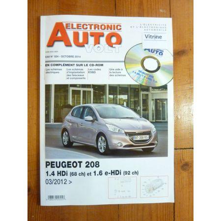 208 Revue Technique Electronic Auto Volt Peugeot