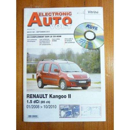 Kangoo II 08-10 Revue Technique Electronic Auto Volt Renault
