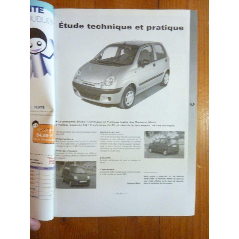 daewoo matiz depuis 07 1998 essence 800cc 3 cylindres. Black Bedroom Furniture Sets. Home Design Ideas