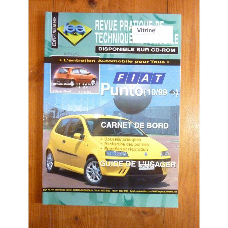 lea revue technique fiat punto essence 1 2 1 8 diesel 1 9 d jtd depuis 10 1999. Black Bedroom Furniture Sets. Home Design Ideas
