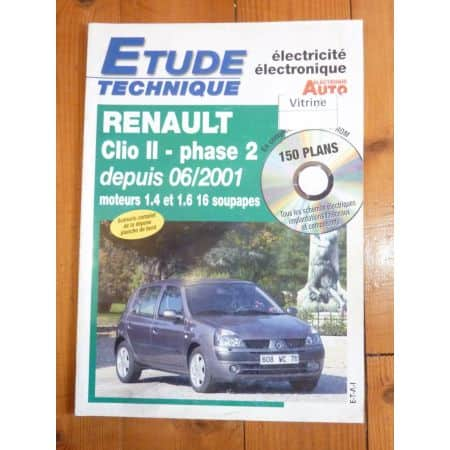 Clio II ph 2 01- Revue Technique Electronic Auto Volt Renault