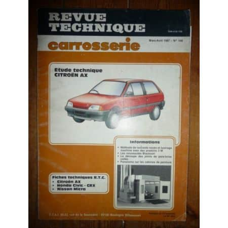 AX Revue Technique Carrosserie Citroen