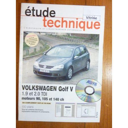 Golf V 1.9 et 2.0 TDI Revue Technique Electronic Auto Volt Volkswagen