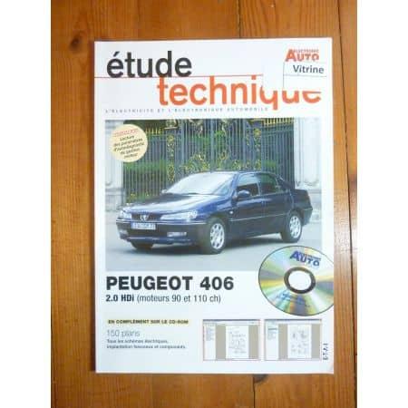 406 2.0 HDi Revue Technique Electronic Auto Volt Peugeot
