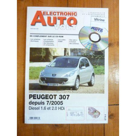 307 HDi 05- Revue Technique Electronic Auto Volt Peugeot
