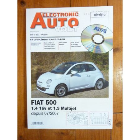 500 07- Revue Technique Electronic Auto Volt Fiat