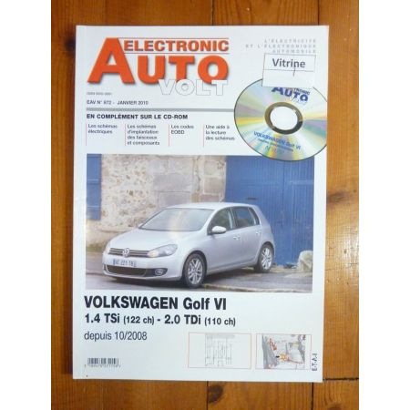 Golf VI 08- Revue Technique Electronic Auto Volt Volkswagen
