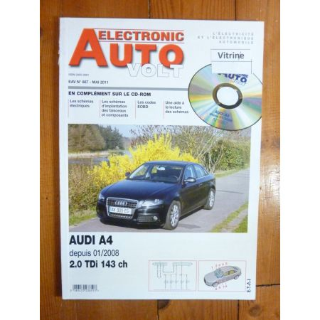 A4 08- Revue Technique Electronic Auto Volt Audi