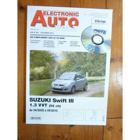 Swift III 05-10 Revue Technique Electronic Auto Volt Suzuki