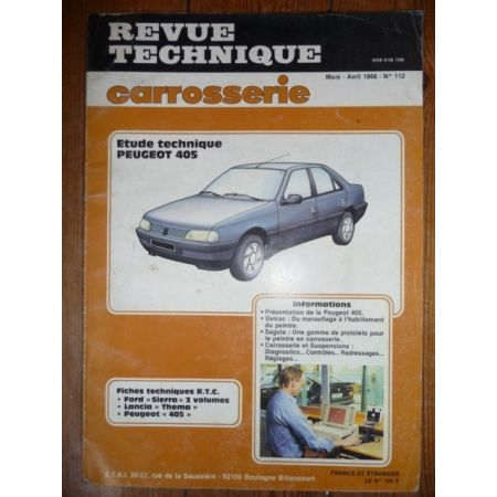 405 Revue Technique Carrosserie Peugeot