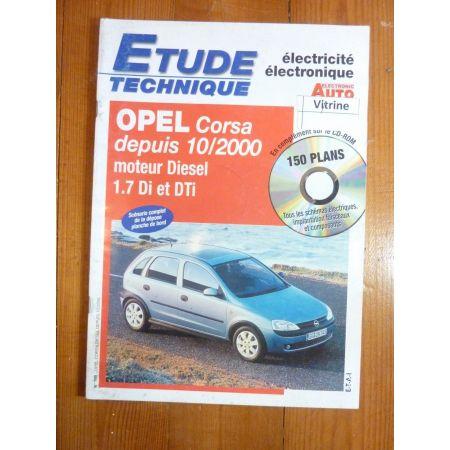 Corsa 1.7DTi 00- Revue Technique Electronic Auto Volt Opel
