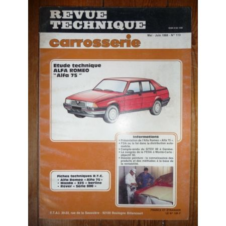 75 Revue Technique Carrosserie Alfa Romeo