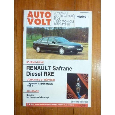 Safrane D RXE Revue Technique Electronic Auto Volt Renault
