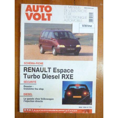 Espace RXE Revue Technique Electronic Auto Volt Renault