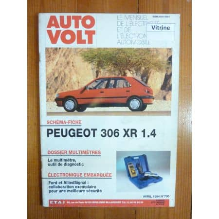 306 XR 1.4 Revue Technique Electronic Auto Volt Peugeot