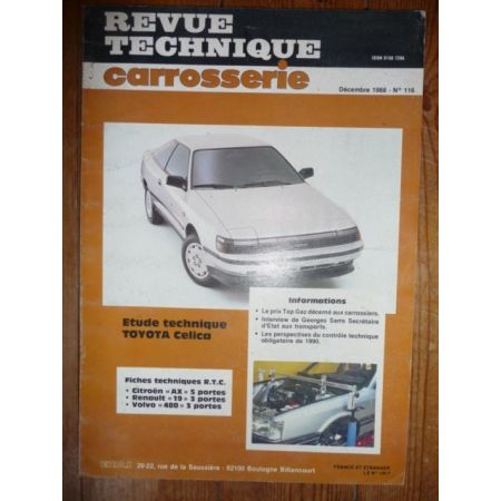 Celica Revue Technique Carrosserie Toyota