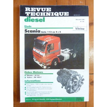 RTD0162D Revue technique Poids-Lourds SCANIA Série 113 en 4x2