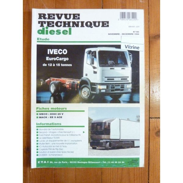 rta revue technique poids lourds iveco 12 et 15 tonnes. Black Bedroom Furniture Sets. Home Design Ideas